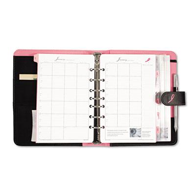 Pink Ribbon Organizer Starter Set w/Microfiber Binder, 5-1/2 x 8