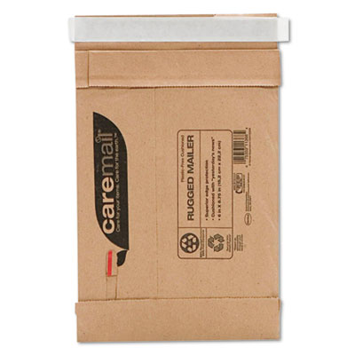 Caremail Rugged Padded Mailer, Side Seam, 6 x 8 3/4, Light Brown