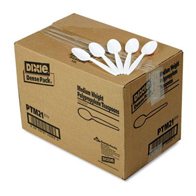 Plastic Cutlery, Mediumweight Teaspoons, White, 1000/Carton