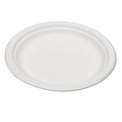"Eco-Products Compostable Sugarcane Dinnerware, 6"" Plate, Natural White, 50/Pack at Sears.com"