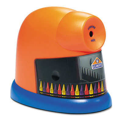 CrayonPro Electric Crayon Sharpener with Replacable Blade, Orang