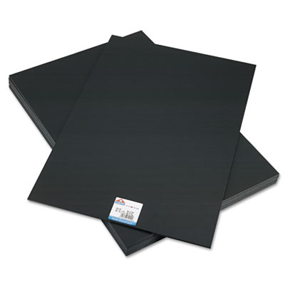 CFC-Free Polystyrene Foam Board, 20 x 30, Black Surface and Core