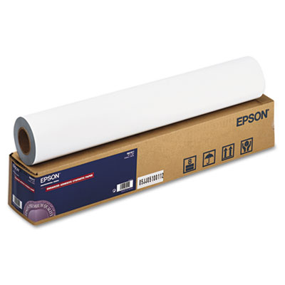 """Enhanced Adhesive Synthetic Paper, 24"""" x 100 ft, White"""