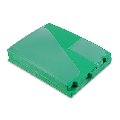 """End Tab Poly Out Guides, Center """"OUT"""" Tab, Letter, Green, 50/Box"""