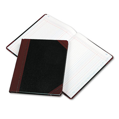 Columnar Book, Two Column, Black Cover, 150 Pages, 10 3/8 x 8 1/