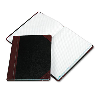 Columnar Book with Quadrille Rule, Black, 150 Pages, 10 3/8 x 8