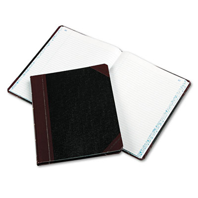 Columnar Book, Record Rule, Black Cover, 150 Pages, 10 3/8 x 8 1