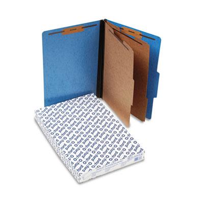 Pressguard Classification Folders, Legal, 2 Dividers, Light Blue