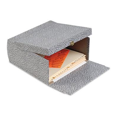 "5-1/4"" Capacity Box File Storage Box, Letter, Binder Board, Blac"