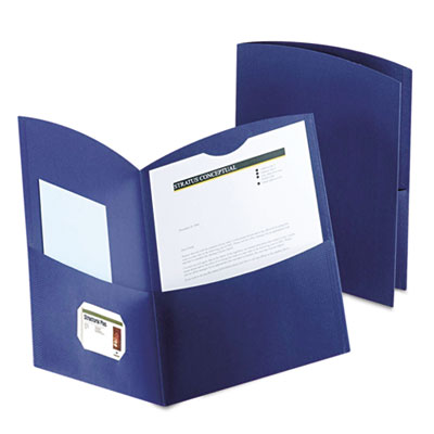 Contour Two-Pocket Recycled Paper Folder, 100-Sheet Capacity, Da