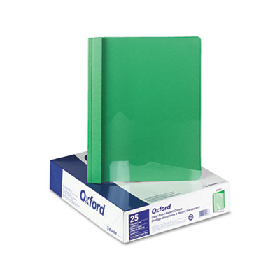 """Clear Front Report Cover, 3 Fasteners, Letter, 1/2"""" Capacity, Gr"""
