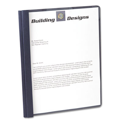 """Clear Front Report Cover, 3 Fasteners, Letter, 1/2"""" Capacity, Da"""
