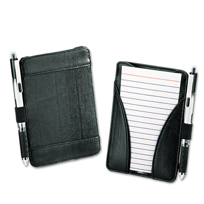At-Hand Note Card Case Holds & Includes 25 3 x 5 Ruled Cards, Bl