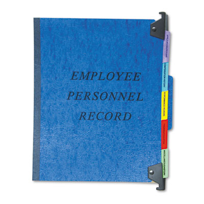 Hanging Personnel Folders, 1/3 Cut Top Tab, Letter, Blue