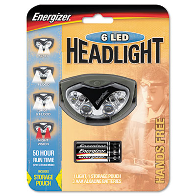 LED Headlight, 3 AAA, Green