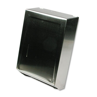 C-Fold or Multifold Towel Dispenser, 11 1/4 x 4 x 15 1/2, Stainl