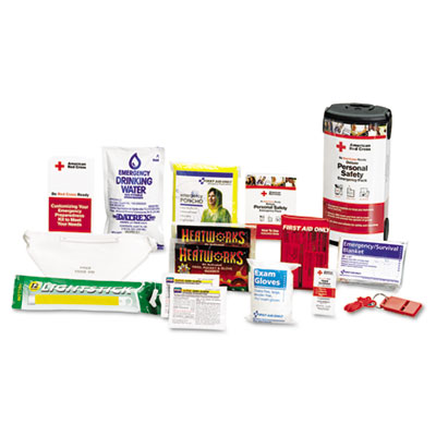 American Red Cross Personal Safety Pack for One Person, Nylon Ba
