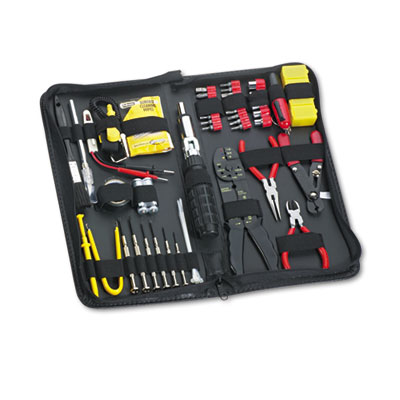 55-Piece Computer Tool Kit in Black Vinyl Zipper Case