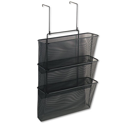Mesh Partition Additions Three-File Pocket Organizer, 12 5/8 x 1