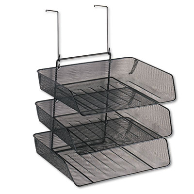 Mesh Partition Additions Three-Tray Organizer, 11 1/8 x 14 x 14
