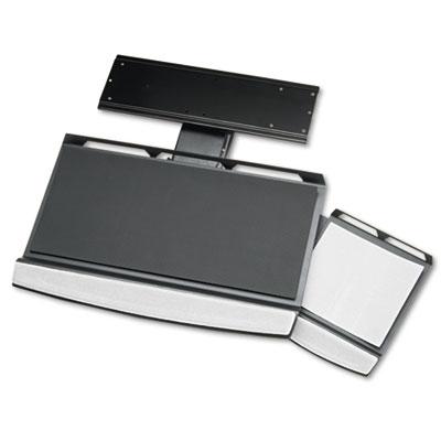 Office Suites Adjustable Keyboard Manager, 21-1/4w x 10d, Black/