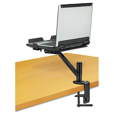 "Designer Suites Laptop Arm, 9 1/4"" x 13"" x 28"", Black"