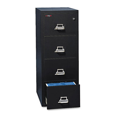 Four-Drawer Vertical File, 17-3/4w x 25d, UL Listed 350