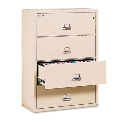 Four-Drawer Lateral File, 31-1/8 x 22-1/8, UL Listed 350