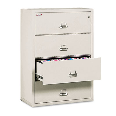 Four-Drawer Lateral File, 37-1/2w x 22-1/8d, Letter/Legal, Parch