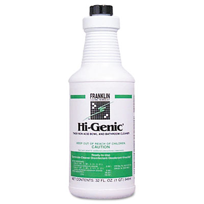 Hi-Genic Non-Acid Bowl & Bathroom Cleaner, 32oz Bottle