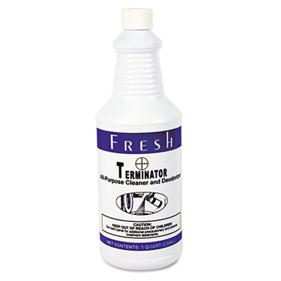 Terminator Deodorizer All-Purpose Cleaner, 32oz Bottles, 12/Cart