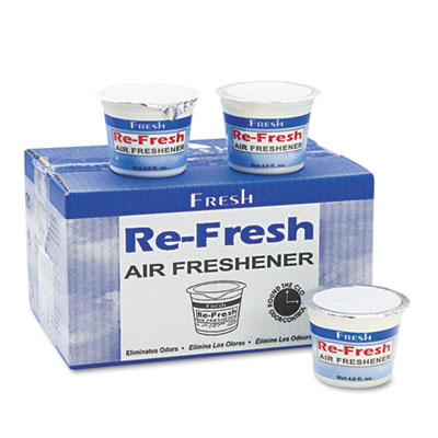 Re-Fresh Air Freshener, Citrus, Gel, 4.6oz, 12/Box