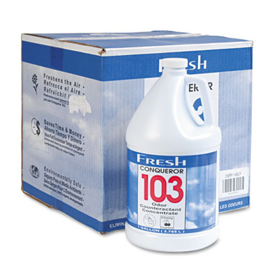 Conqueror 103 Odor Counteractant Concentrate, Cherry, 1gal Bottl