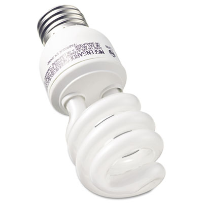 Compact Fluorescent Bulb, 13 Watt, T3 Spiral, Soft White, 2/Pack