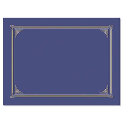 Certificate/Document Cover, 12-1/2 x 9-3/4, Metallic Blue, 6/Pac
