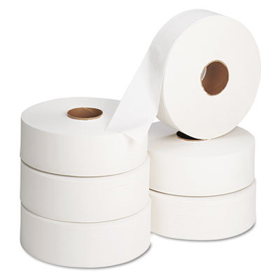 "Jumbo Roll Bath Tissue, 12"" dia, 2000ft, 6 Rolls/Carton"