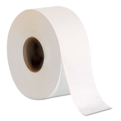 "Jumbo Jr. One-Ply Bath Tissue Roll, 9"" dia, 2000ft, 8 Rolls/Cart"