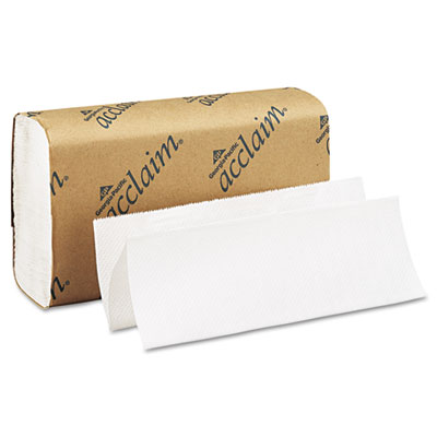 Folded Paper Towel, 9 1/4 x 9 1/2, White, 250/Pack, 16 Packs/Car