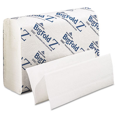 BigFold Paper Towels, 10 1/5 x 10 4/5, White, 220/Pack, 10 Packs
