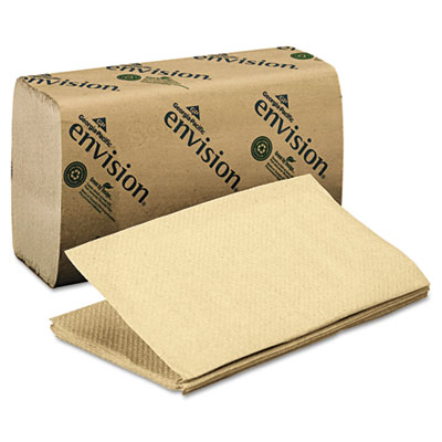 1 Fold Paper Towel, 10 1/4 x 9 1/4, Brown, 250/Pack, 16 Packs/Ca