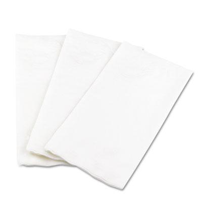 1/8 Fold Dinner Napkins, 15 x 16, White, 100/Pack
