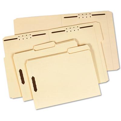 Folder, Two Fasteners, 1/3 Cut Top Tab, Letter, 18 Point, Manila