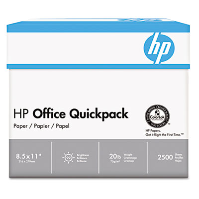 Office Paper, 92 Brightness, 20lb, 8-1/2 x 11, White, 2500 Sheet