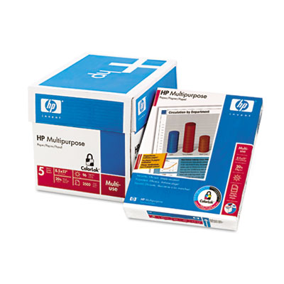 Multipurpose Paper, 96 Bright, 20lb, Letter, White, 2500 Sheets/