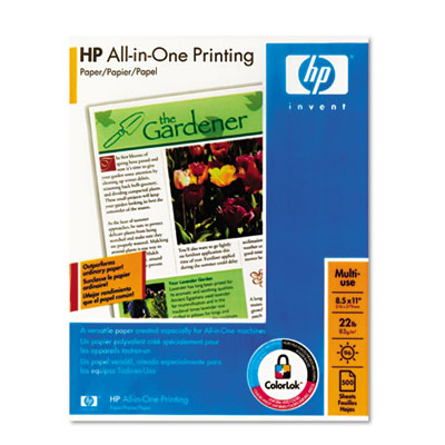 All-In-One Printing Paper, 96 Bright, 22lb, Letter, White, 500 S