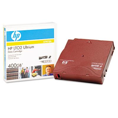 "1/2"" Ultrium LTO 2 Cartridge, 1998ft, 200GB Native/400GB Compres"