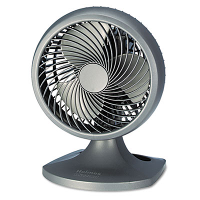 "Blizzard 8"" Three-Speed Oscillating Table/Wall Fan, Charcoal"