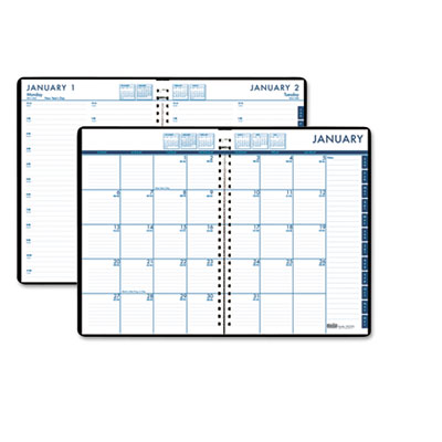 24/7 Daily Appointment Book/Monthly Planner, 7 x 10, Black, 2015
