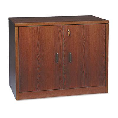 10500 Series Storage Cabinet w/Doors, 36w x 20d x 29-1/2h, Mahog