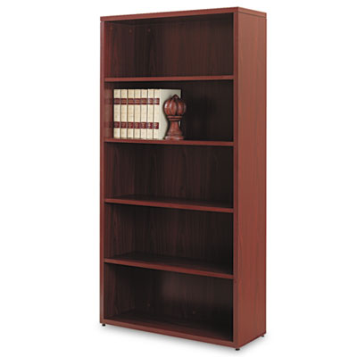 10500 Series Laminate Bookcase, Five-Shelf, 36w x 13-1/8d x 71h,
